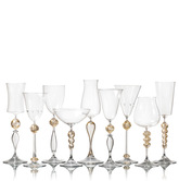 Venetian Style Goblets Stemware in Contemporary Designs