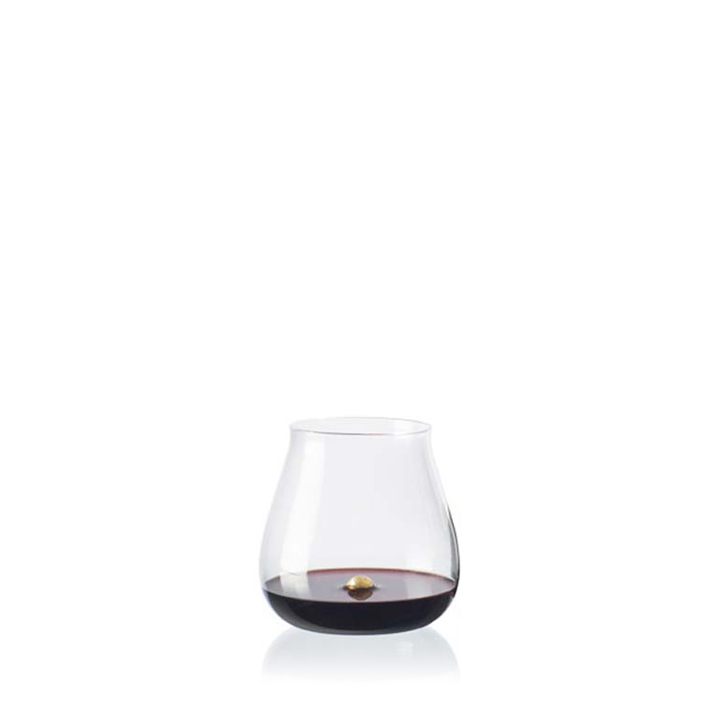 Stemless Wine Glass Handblown Glass Wedding Present