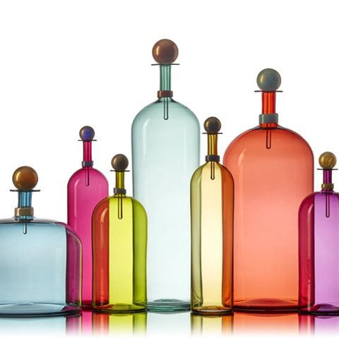 Modern Handblown Glass Bottles by Vetro Vero www.vetrovero.com