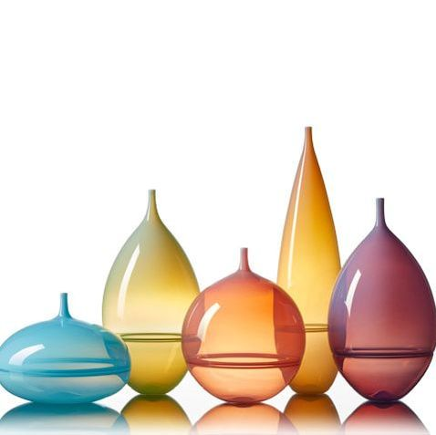 Nuvolo Vessels contemporary handblown glass by Vetro Vero www.vetrovero.com
